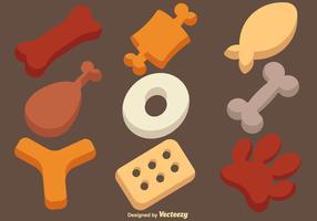 Insieme dell'icona dei biscotti del cane di vettore