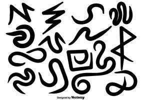 Scarabocchi disegnati a mano di vettore