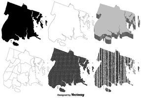 Il set di mappe vettoriali Bronx