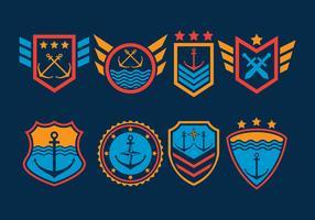 Set di vettore di guarnizioni di blu marino