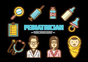 Vettore delle icone del pediatra