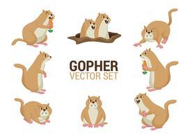 vettore di cartoni animati gopher