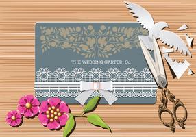Vettore degli accessori nuziali di concetto di nozze
