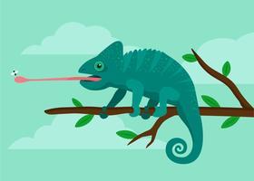 Illustrazione di Chameleon vettore