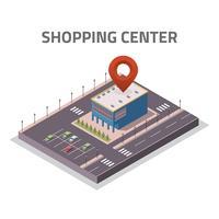 Vettore isometrico del deposito del centro commerciale