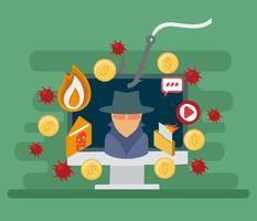 Vettore gratuito di attacco di phishing