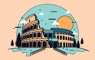 Vettore dell'illustrazione dell'anfiteatro