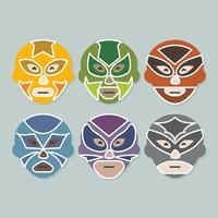 vector raccolta di lottatori messicani