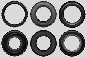 Set pneumatico pneumatico vettoriale
