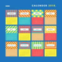 Moderno calendario stampabile vettore