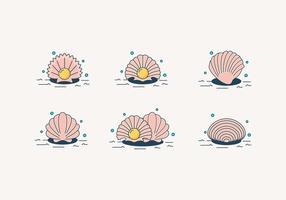 Vettori di ostrica perla dei cartoni animati