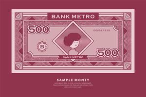 Esempio di illustrazione di denaro vettore