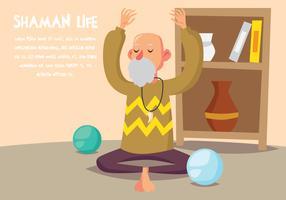 Illustrazione di vita di sciamano vettore