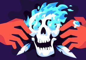 Sciamano Skull Vector