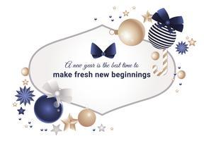 Disegno di cartolina d'auguri di anno nuovo Design piatto vettoriale gratuito