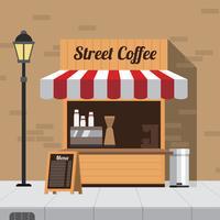 Vettore libero di concessione del caffè della via