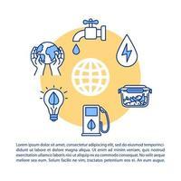 icona del concetto di consumo responsabile con testo.