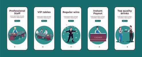 app mobile per l'onboarding del casinò vettore