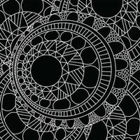 zentangle mandala pattern vettore