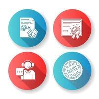servizi notarili design piatto glifo set di icone. vettore