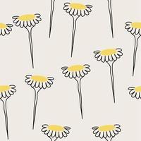 seamless di fiori margherita gialla