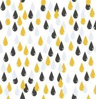seamless pattern di gocce d'acqua grigie e gialle vettore