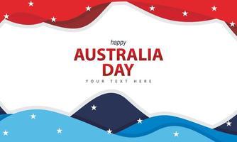 sfondo di giorno australia con forma ondulata vettore