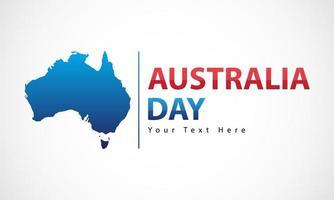 banner giorno australia con isola australiana vettore