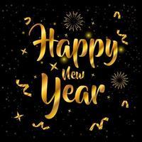felice anno nuovo, celebrazione del poster dorato 2021