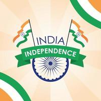 banner di celebrazione felice giorno dell'indipendenza dell'india