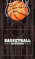 poster di campionato di basket e sport