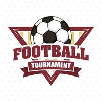 emblema di sport di calcio calcio con palla