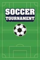 poster del torneo di calcio calcio sportivo con palla