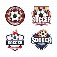 set di icone di calcio calcio sport emblema