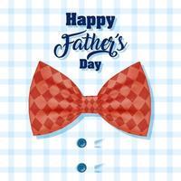 banner di felice festa del papà con elegante camicia maschile