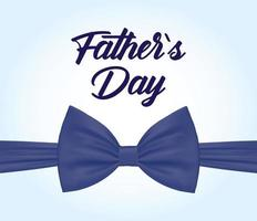 banner di vendita di festa del papà con farfallino vettore