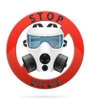 maschera respiratoria per protezione da virus vettore