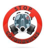 maschera respiratoria per protezione anti-virus design vettore