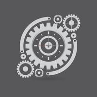 Illustrazione delle parti dell'orologio dell'ingranaggio vettore