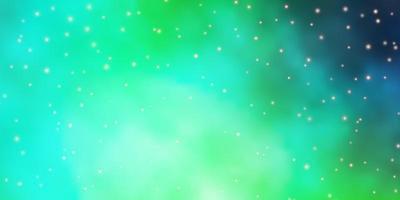 sfondo verde chiaro con stelle colorate.
