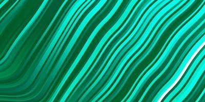 sfondo vettoriale verde chiaro con linee curve