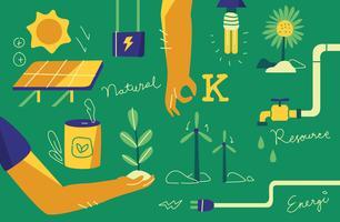 Illustrazione vettoriale di risorse naturali