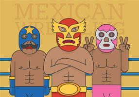 Vettore del lottatore messicano