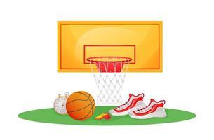 oggetti del gioco di basket vettore