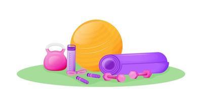 oggetti per attrezzi da aerobica vettore