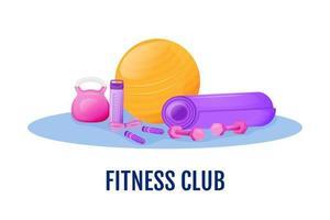 oggetti del fitness club vettore