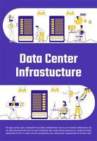 poster dell'infrastruttura del data center vettore