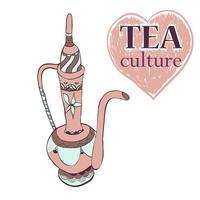 illustrazione della cultura del tè. vettore