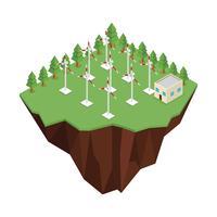Vettore di energia del parco eolico