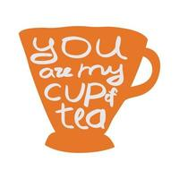 tazza di tè. vettore